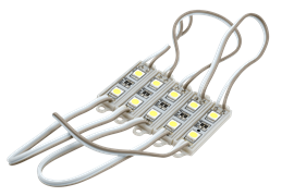 SMD5050*2LED, 7500-8000K, IP65 0,48W DC12V 120° 26-40 LM, 15 см